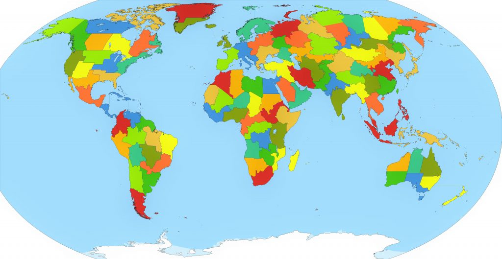 mapa politico del mundo para imprimir
